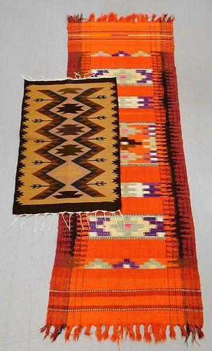 2 Ecuadorian Flat Weave Rug and Runner