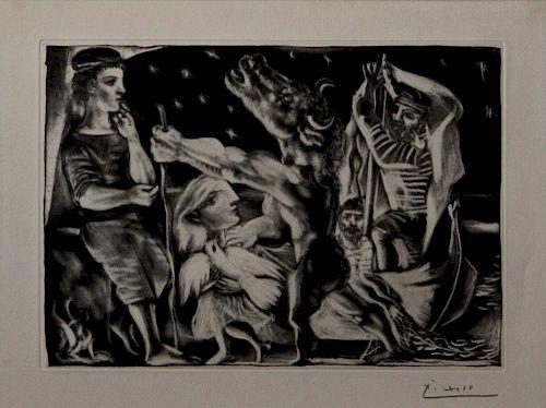 Pablo Picasso  'Minotaure Aveugle Guide par une Fillette dans la Nuit'