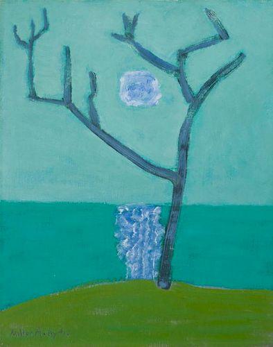 Milton Avery  'Bare Tree Green Sea'