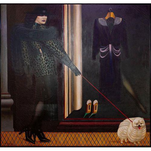 Shimon Okshteyn (b. 1951), Oil on Canvas, Madison Avenue