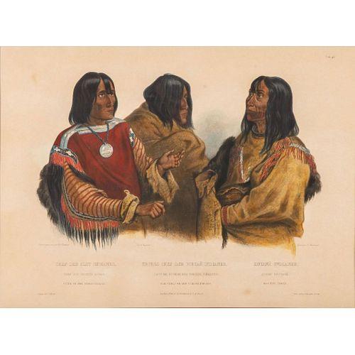 Triple Portrait, Two Blackfoot Chiefs And A Koutani Indian