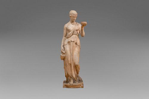 Terracotta sculpture depicting Hebe, 19th century