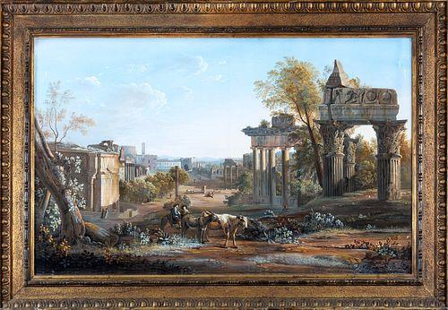 Gaspare  Gabrielli (Roma 1770-1828)  - Campo Vaccino in Rome