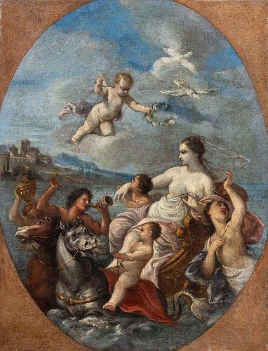 Scuola francese, secolo XVIII - Triumph of Amphitrite