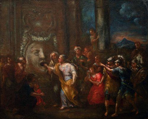 Scuola italiana, secolo XVII - La Bocca della Verità