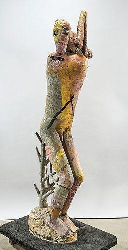 Large Glazed Ceramic Sculpture by Robert Brady