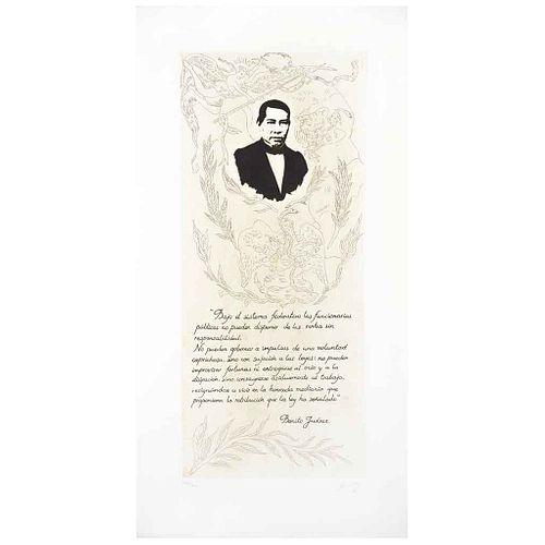 "SERGIO HERNÁNDEZ, Untitled, Signed, Aquatint etching 283 / 300, 34.2 x 17.7"" (87 x 45 cm)"