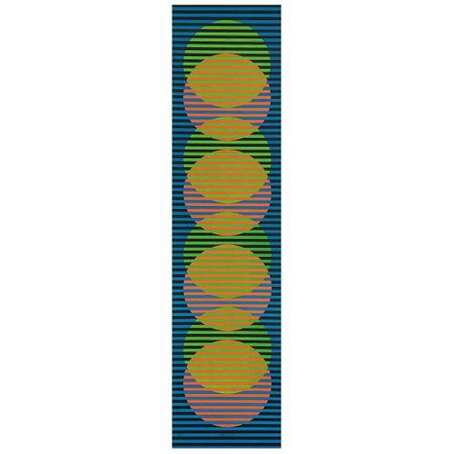 "CARLOS CRUZ DIEZ, Stitge, Signed, Lithograph 73 / 75, 39.3 x 9.7"" (100 x 24.8 cm)"