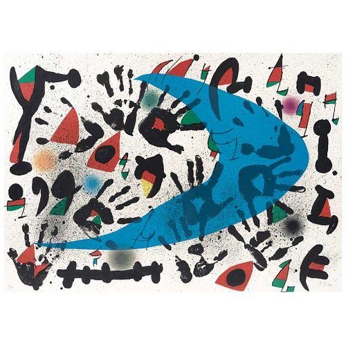 "JOAN MIRÓ, Claca, Signed in pencil, Lithograph 75 / 75, 23 x 32.4"" (58.5 x 82.5 cm)"