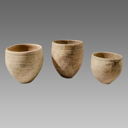 Lot of 3 Ancient Iron Age Terracotta Bowls c.1400 BC.