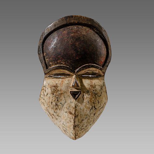 African Wood mask Gabon Teke, c.20th century.