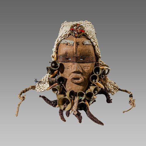 African Wood mask Ivory Coast Dan c.20th century.