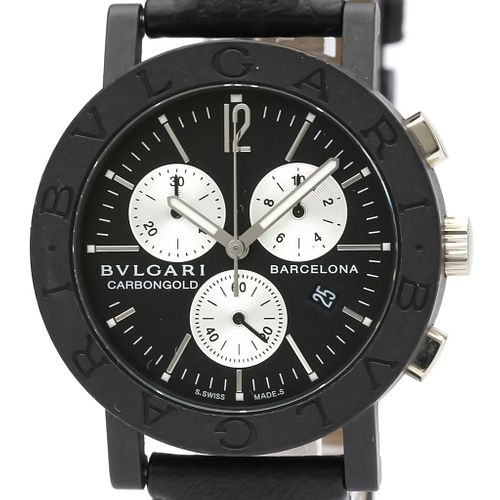 BVLGARI Carbon Gold Chronograph Unisex Limited Watch BB38CLCH
