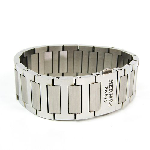 Hermes Stainless Steel Bangle Silver
