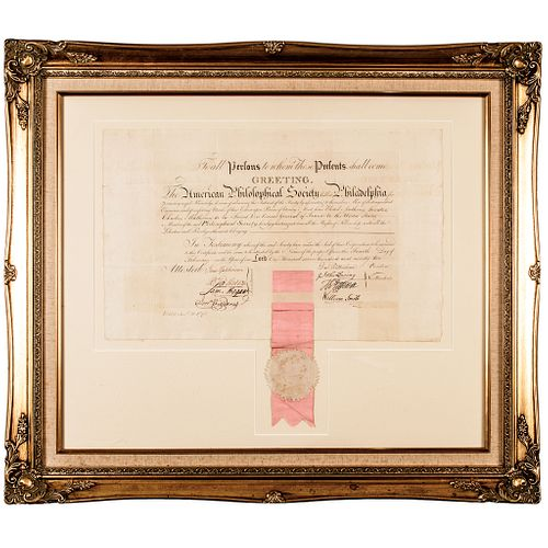 1792 THOMAS JEFFERSON and DAVID RITTENHOUSE Signed Document