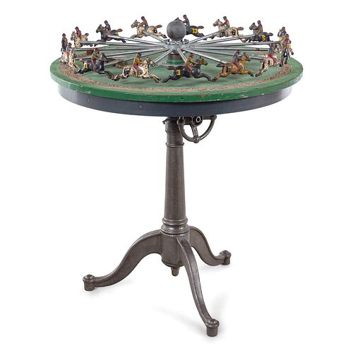 An H.C. Evans Cast Iron Table-Top Horse Race Game