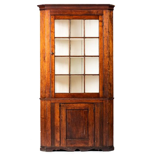 A Chippendale Cherrywood Corner Cabinet, Likely Pennsylvania, Circa 1800
