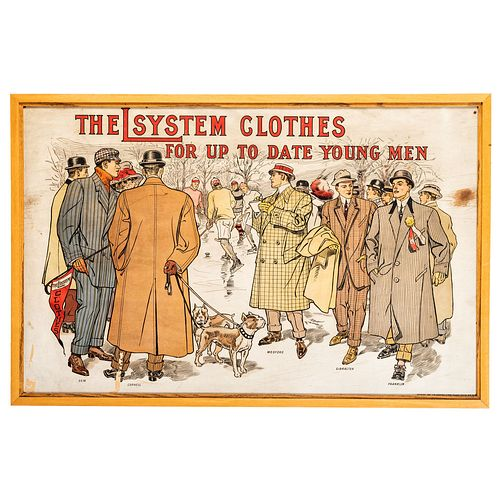An The L System for Clothes Advertising Poster, 1909
