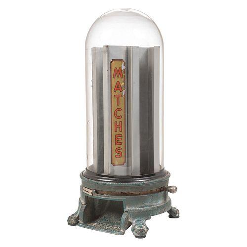 An Advance Machine Company Domed Penny Match Dispenser