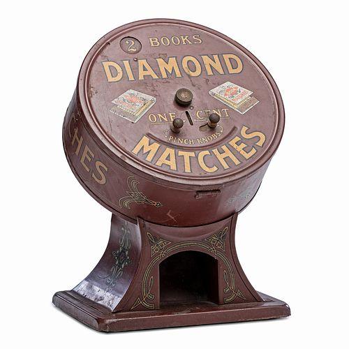 """A Diamond Matches """"2 Books for 1 Cent"""" Match Dispenser, Circa 1920"""