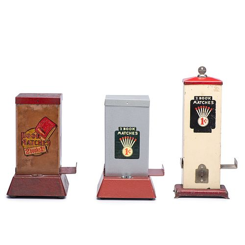 Three Penny Match Dispensers