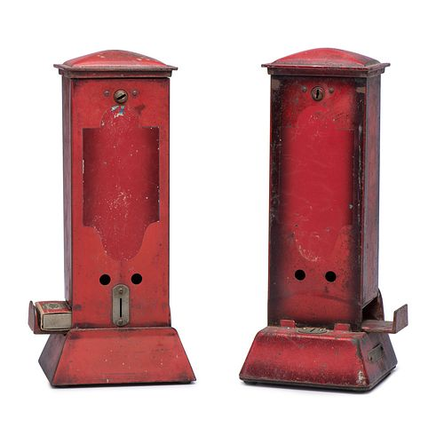 """Two Northwestern Novelty Co. """"Ohio"""" Coin-Operated Match Dispeners"""