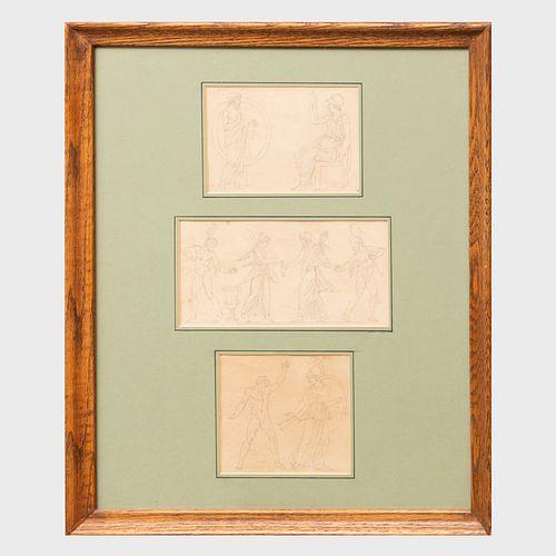 Circle of  Jacques-Louis David (1748-1825): Study of Figures