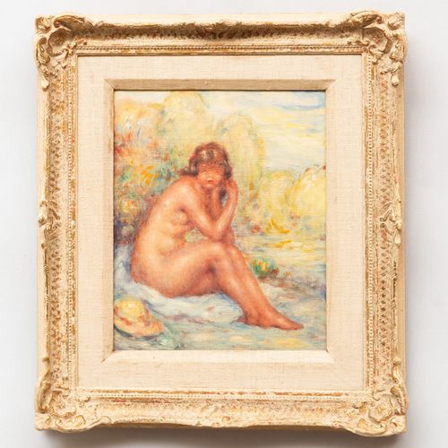 French School: Seated Female Nude
