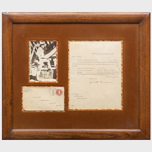 Letter from Jack London to R.L. Kidder with Envelope and Photograph