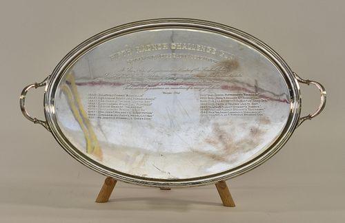 Rare English Silver Trophy Platter