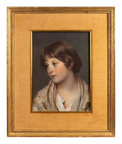 Eugene von Blaas (Austrian, 1843-1932) Portrait of Young Girl