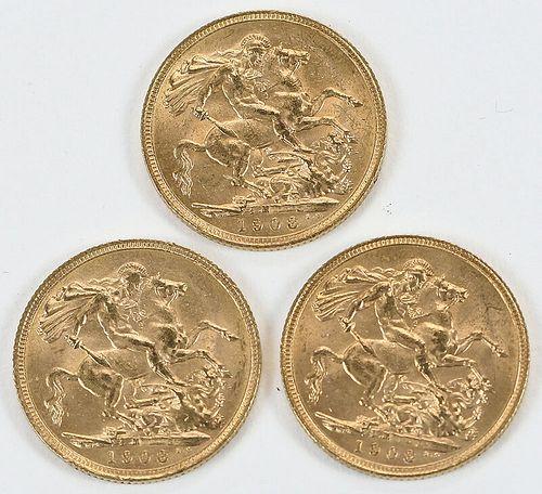 30 British Gold Sovereigns
