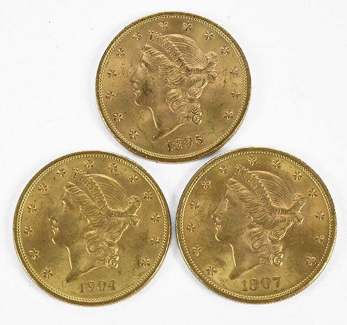 16 Liberty Head $20 Gold Coins