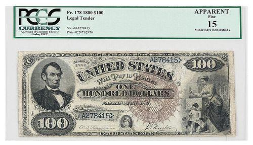 1880 $100 Legal Tender