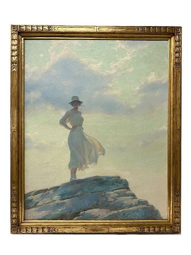 """Charles Courtney Curran """"The Top Of The World"""""""