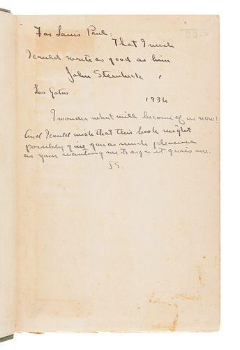 STEINBECK, John (1902-1968). The Pastures of Heaven. New York: Brewer, Warren & Putnam, 1932.