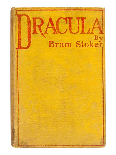 STOKER, Bram (1847-1912). Dracula. Westminster: Archibald Constable and Company, 1897.