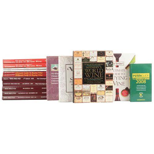 Guías sobre Vinos. Vintners Club/ Vintage Port/ Sotheby's World Wine Encyclopedia/ Ultimate Guide to Buying Wine... Piezas: 16.