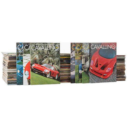 Revista Cavallino. Boca Raton, Florida, 1978 - 2010. Números 1 - 177 discontinuos. Piezas: 165