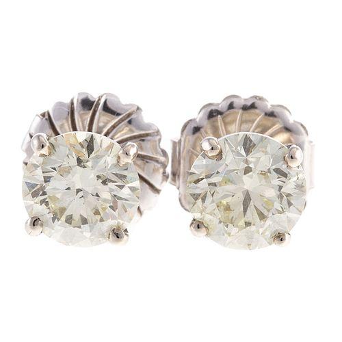 A Pair of Martini Set Diamond Stud Earrings