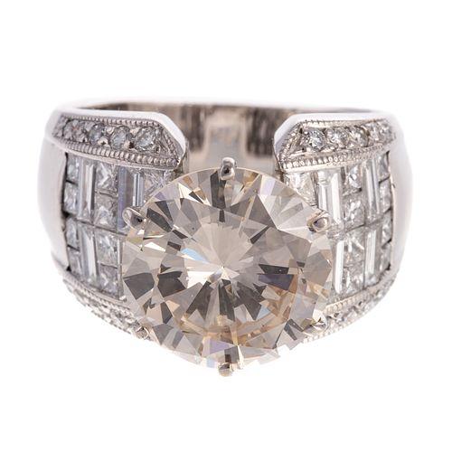 An Impressive 6.59 Round Brilliant Diamond Ring