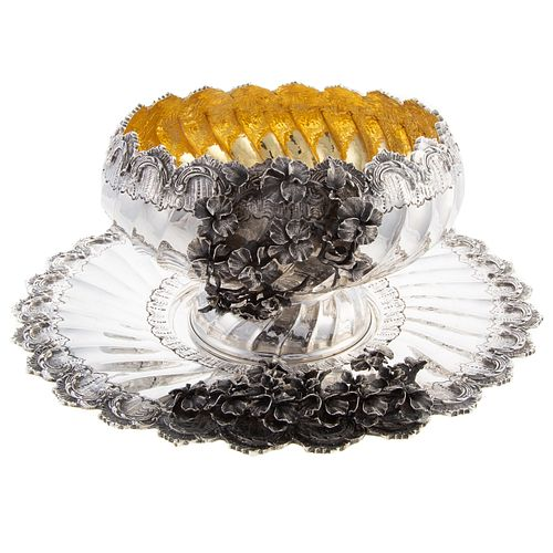 Turkish Silver Centerbowl and Undertray