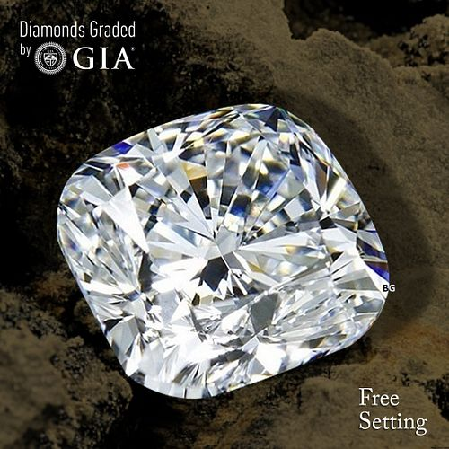 10.02 ct, E/VS1, Cushion cut Diamond. Unmounted. Appraised Value: $2,374,700
