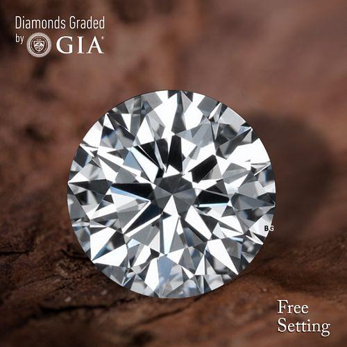 5.52 ct, F/VS1, Round cut Diamond. Unmounted. Appraised Value: $738,300