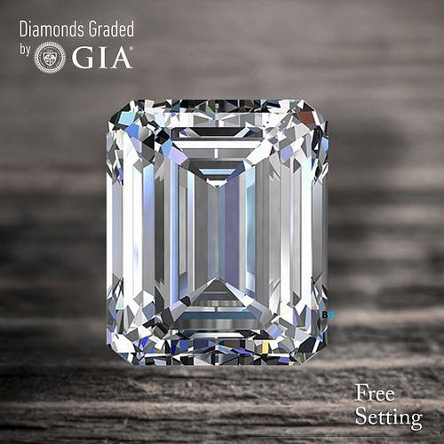 5.01 ct, D/FL, TYPE IIA Emerald cut Diamond. Unmounted. Appraised Value: $1,202,400