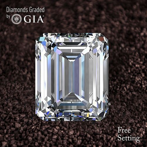 5.02 ct, D/FL, TYPE IIA Emerald cut Diamond. Unmounted. Appraised Value: $1,204,800