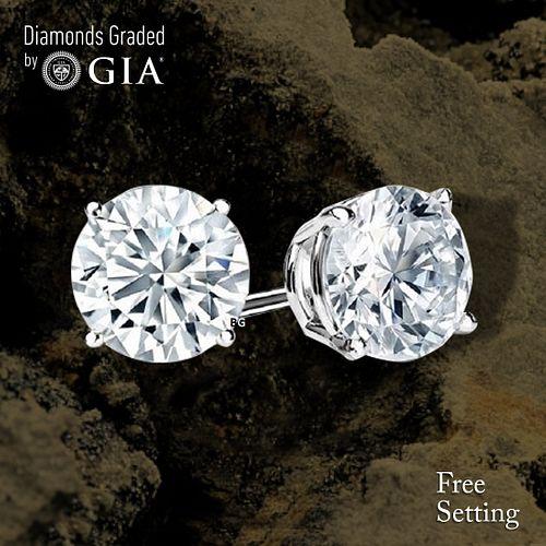 10.54 carat diamond pair Round cut Diamond GIA Graded 1) 5.18 ct, Color H, VS1 2) 5.36 ct, Color H, VS1. Unmounted. Appraised Value: $737,800