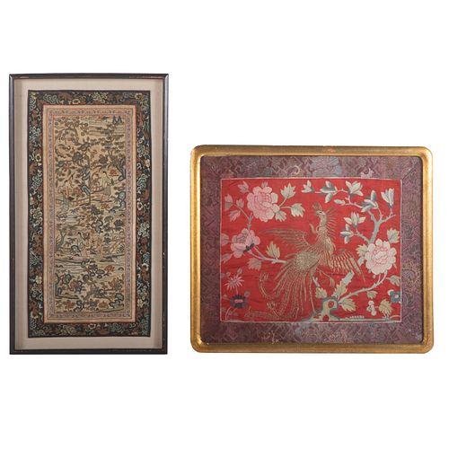 Chinese Rank Badge & Textile
