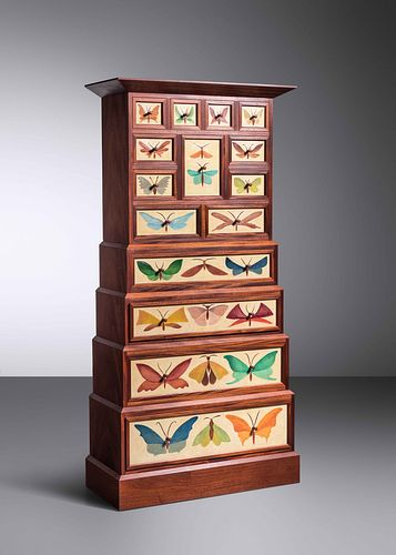 Judy Kensley McKie (b. 1944) Butterfly Cabinet, 1993