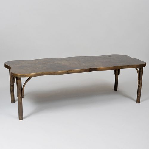 Philip and Kelvin LaVerne Patinated Metal Low Table